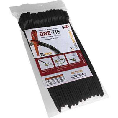 8 in. Cable Ties, Black (25-Pack)
