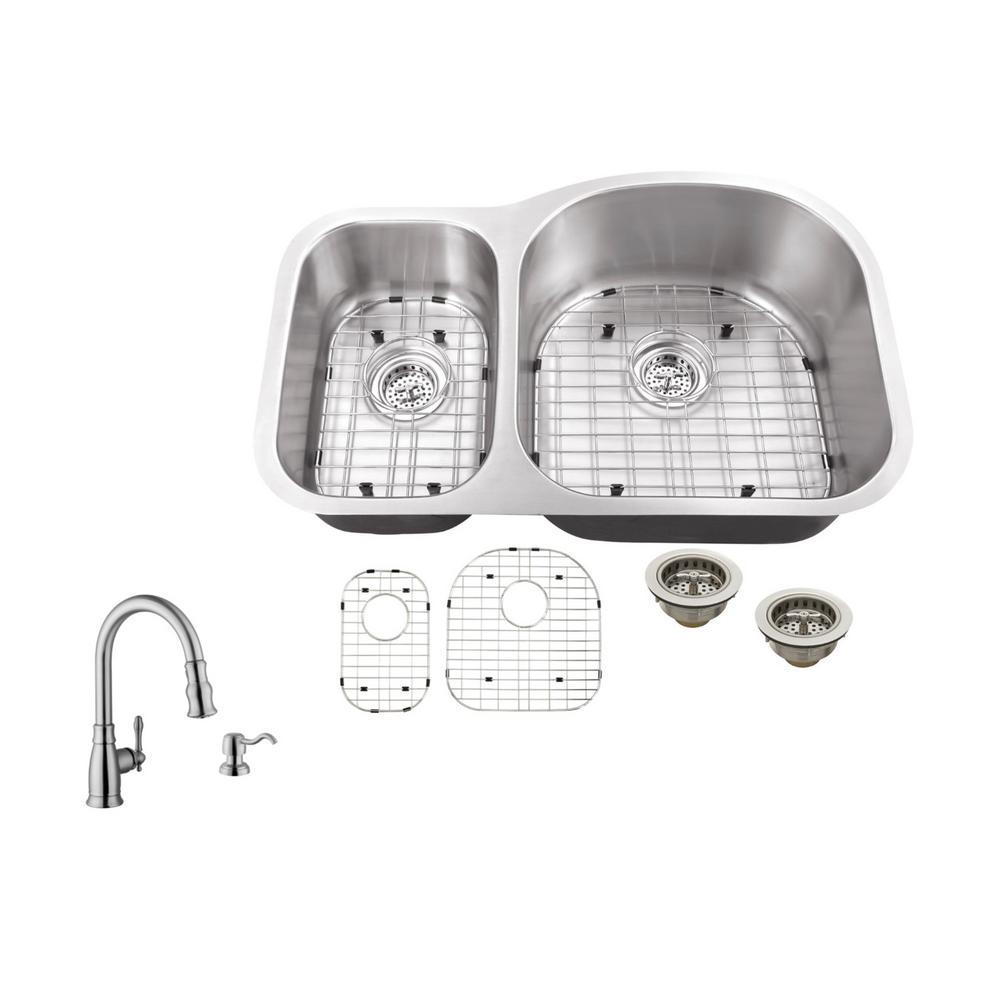 Ipt Sink Company Undermount 32 In 18 Gauge Stainless Steel Kitchen