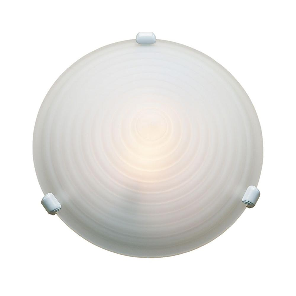 Access Lighting 1-Light Flush Mount Chrome Finish Stepped Acid Frosted Glass-DISCONTINUED