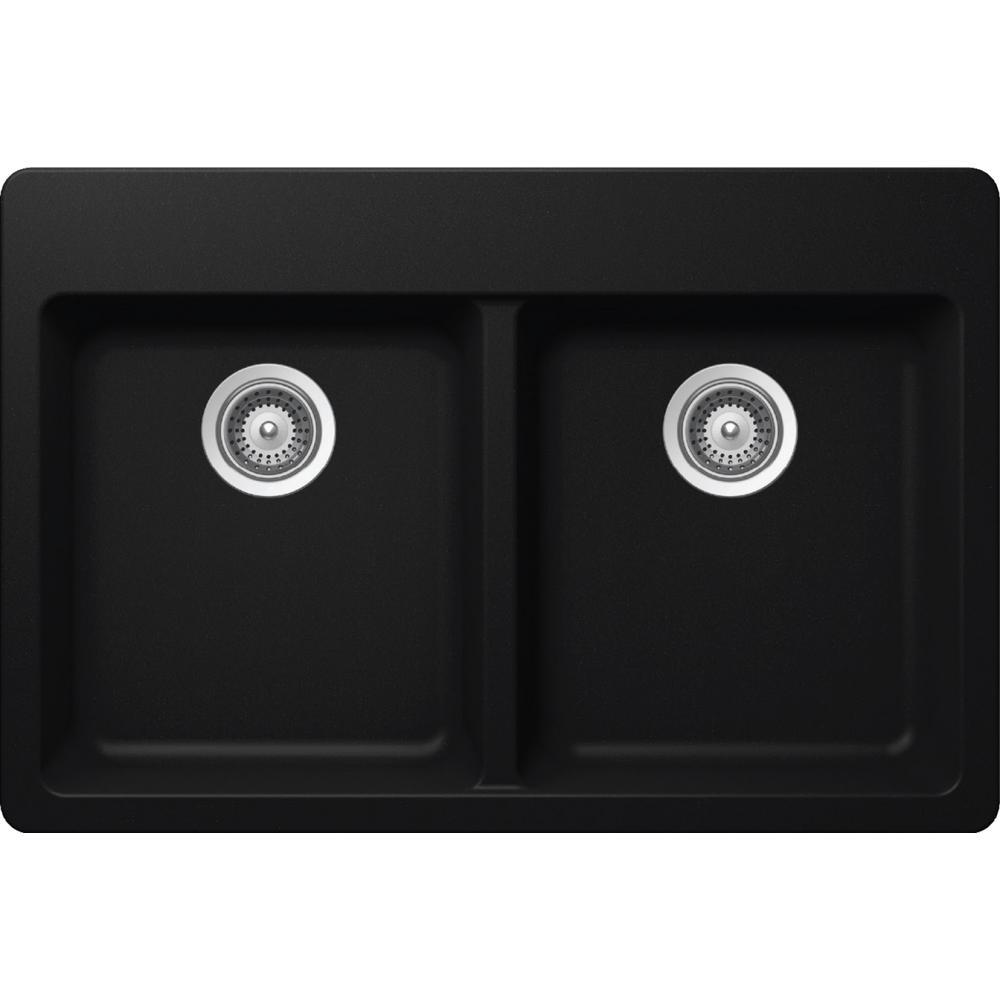 Elkay by Schock Undermount Quartz Composite 33 in Single Bowl Kitchen Sink in B