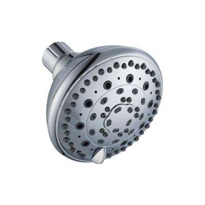6-Spray 4 in. Showerhead in Chrome