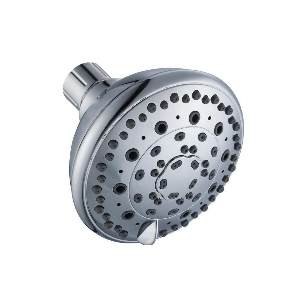 6-Spray 4 in. Showerhead in Chrome