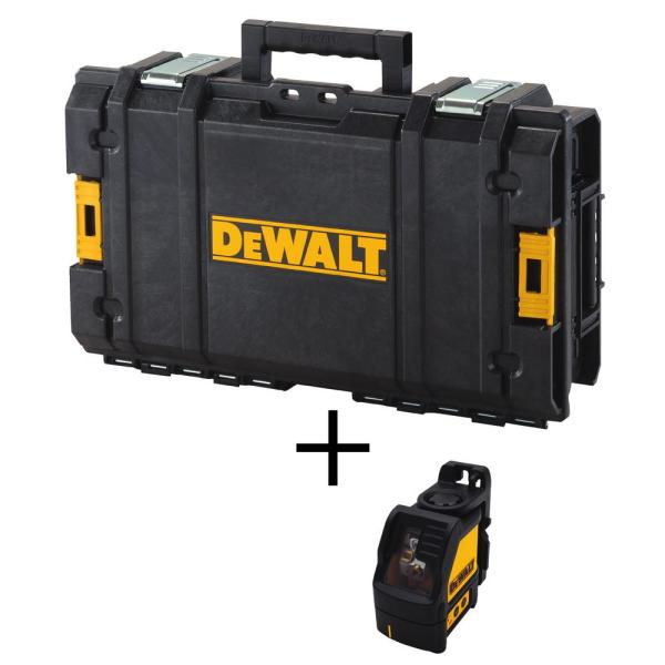 165 ft. Green Self-Leveling Cross Line Laser Level with Bonus 22 in. ToughSystem Tool Box