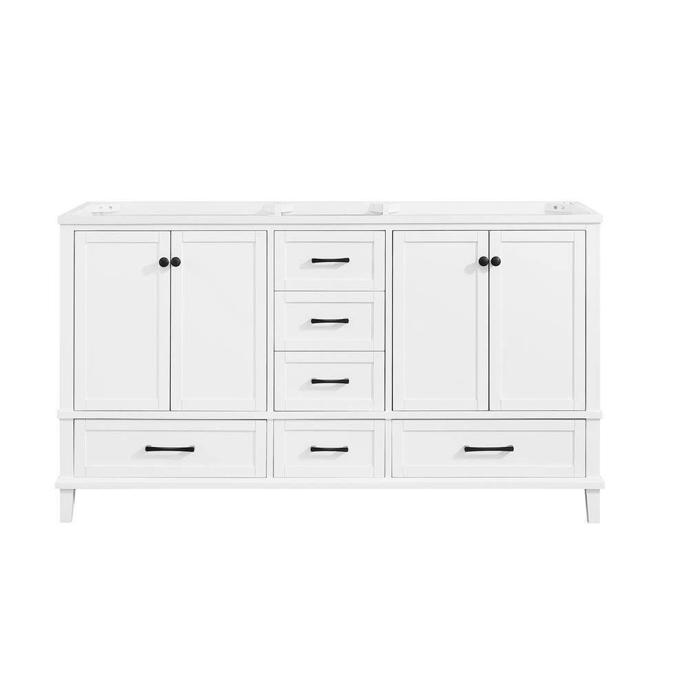 Merryfield 60 in. W x 21-1/2 in. D Bathroom Vanity Cabinet Only in White