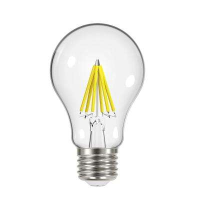 60W Equivalent Soft White Classic Glass A19 Energy Star and Dimmable Filament LED Light Bulb (4-Pack)