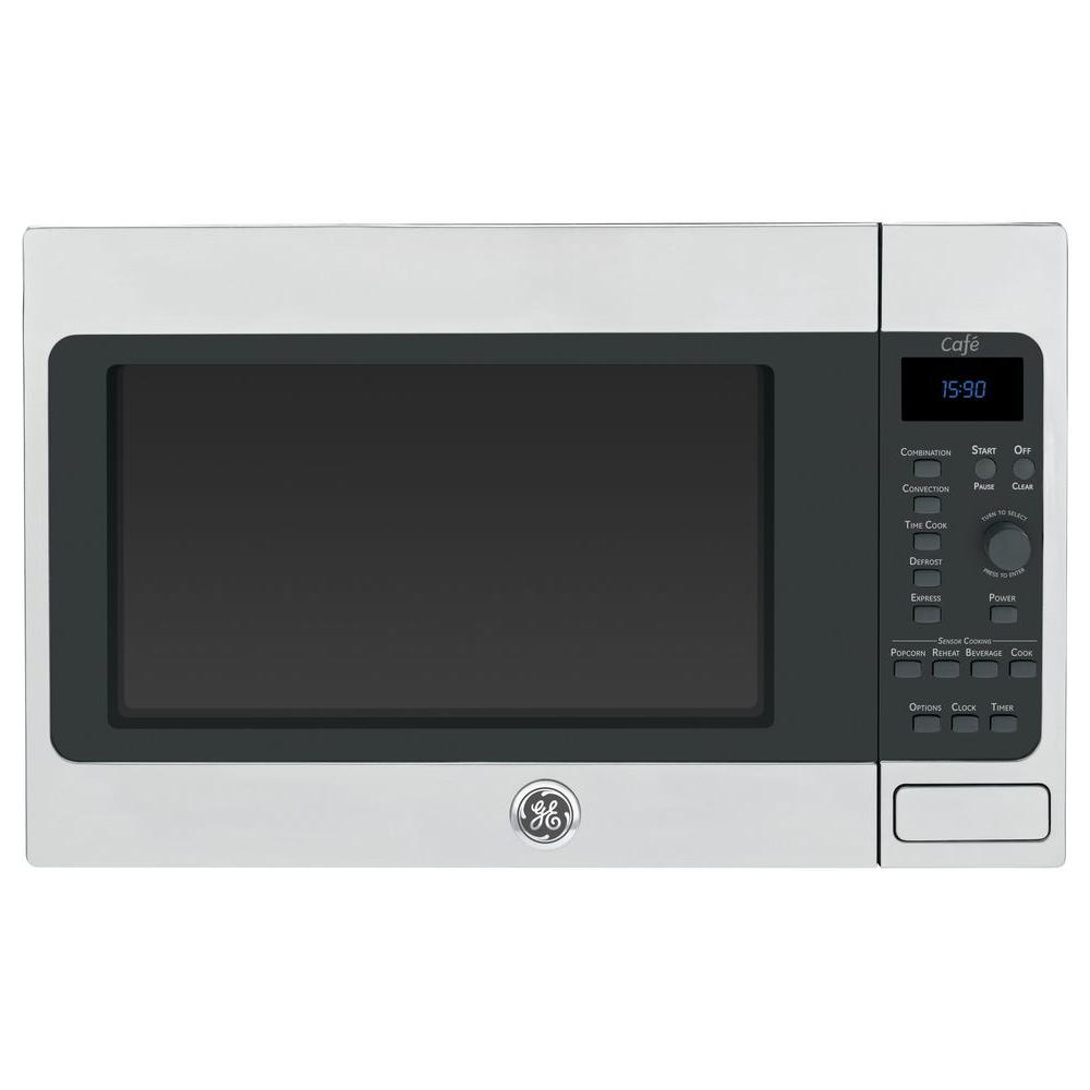 GE Cafe 1.5 cu. ft. Countertop Convection Microwave in Stainless Steel
