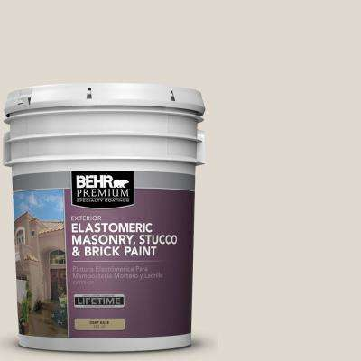 5 gal. #PFC-72 White Cloud Elastomeric Masonry, Stucco and Brick Exterior Paint