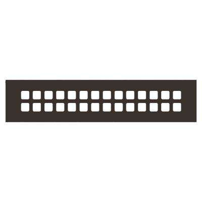 Square Series 14 in. x 2-1/4 in. Aluminum Grille, Oil Rubbed Bronze without Mounting Holes
