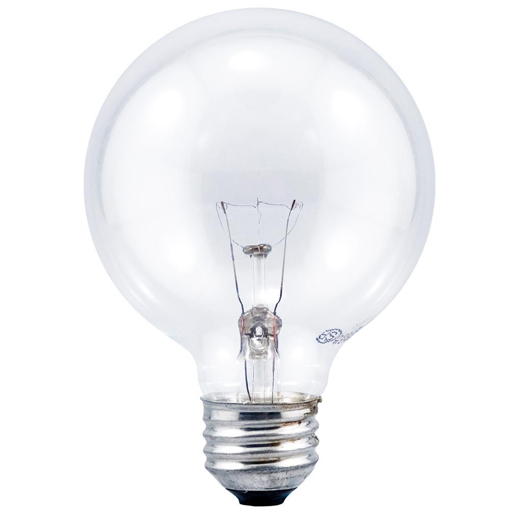 40-Watt G25 GLOBE Double Life Clear Incandescent Light Bulb (3-Pack)
