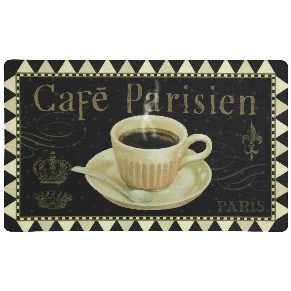 Mohawk Home Multi Colored 1 ft 5 in. x 2 ft 5 in. Polyester Cafe Parisien Foam Comfort Mat