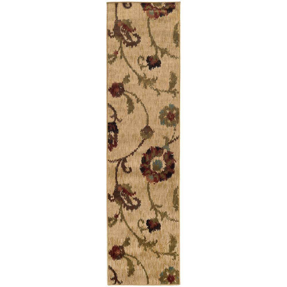 Home Decorators Collection Gardenview Tan 2 ft. x 8 ft. Runner Rug