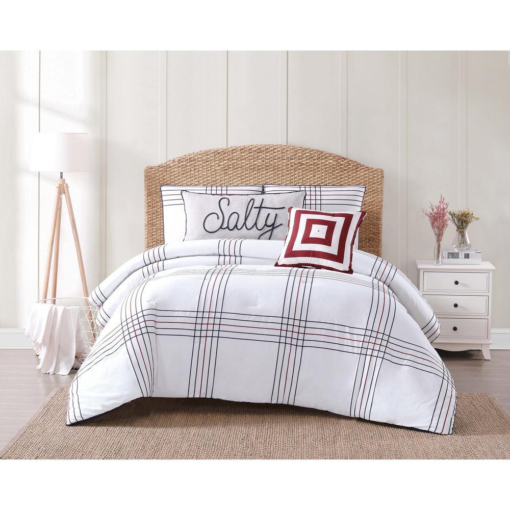 Oceanfront Resort Nautical Charm 3-Piece Multi Color Full/Queen Comforter Set