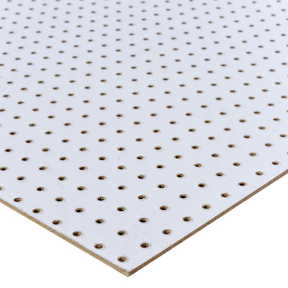 Unbranded 48 In H X 24 In W White Pegboard 109099 The Home Depot