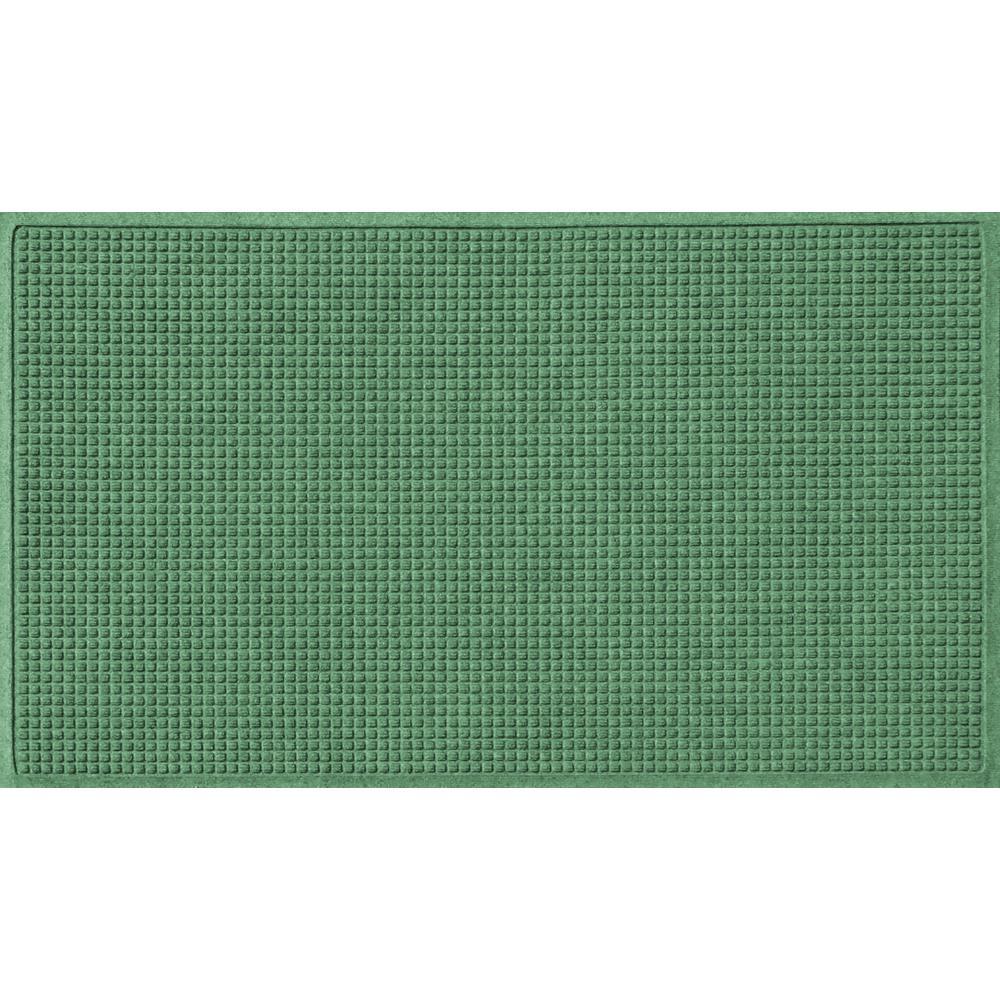 Light Green 36 in. x 60 in. Squares Polypropylene Door Mat