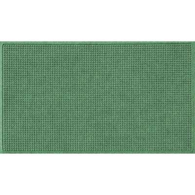 Light Green 36 in. x 84 in. Squares Polypropylene Door Mat