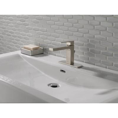 Xander Single Hole Single-Handle Bathroom Faucet with Metal Pop-Up Assembly in Brushed Nickel