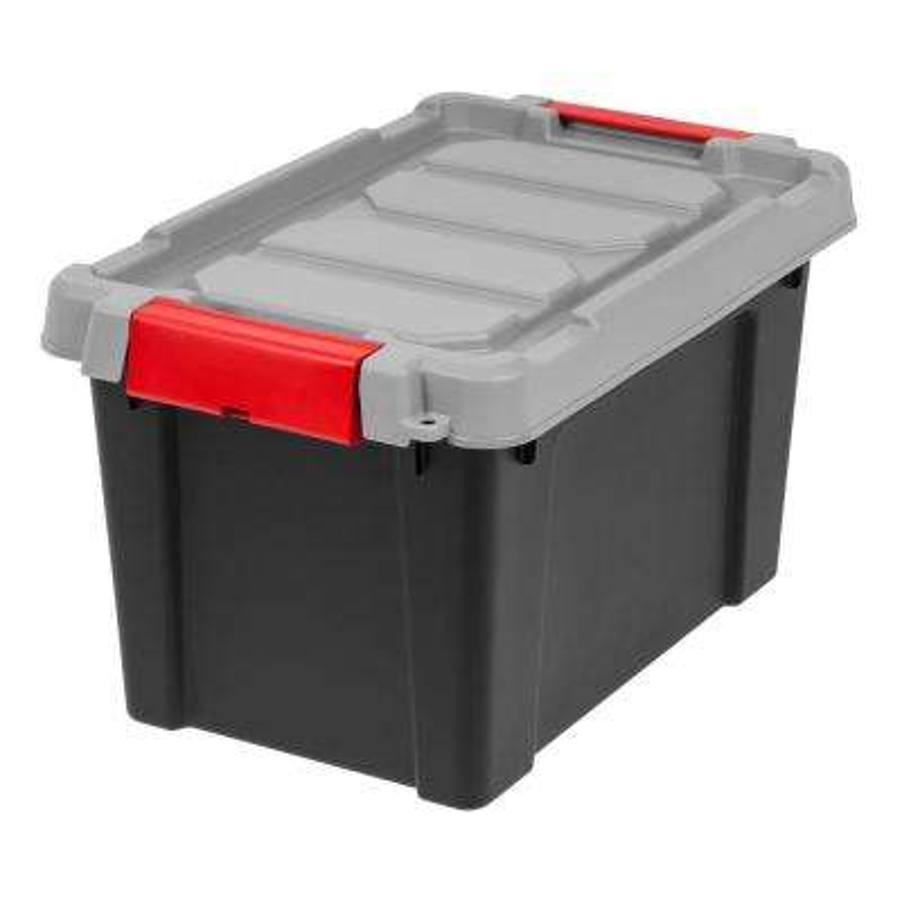 5 Gal. Store-It-All Storage Bin in Black (4-Pack)