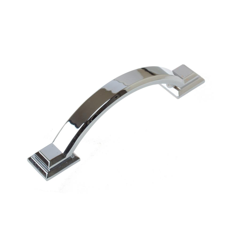 Polished Chrome Arched Square Cabinet Pull (10 Pack)
