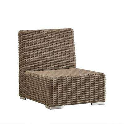 Camari Mocha Wicker Armless Middle Outdoor Sectional Chair
