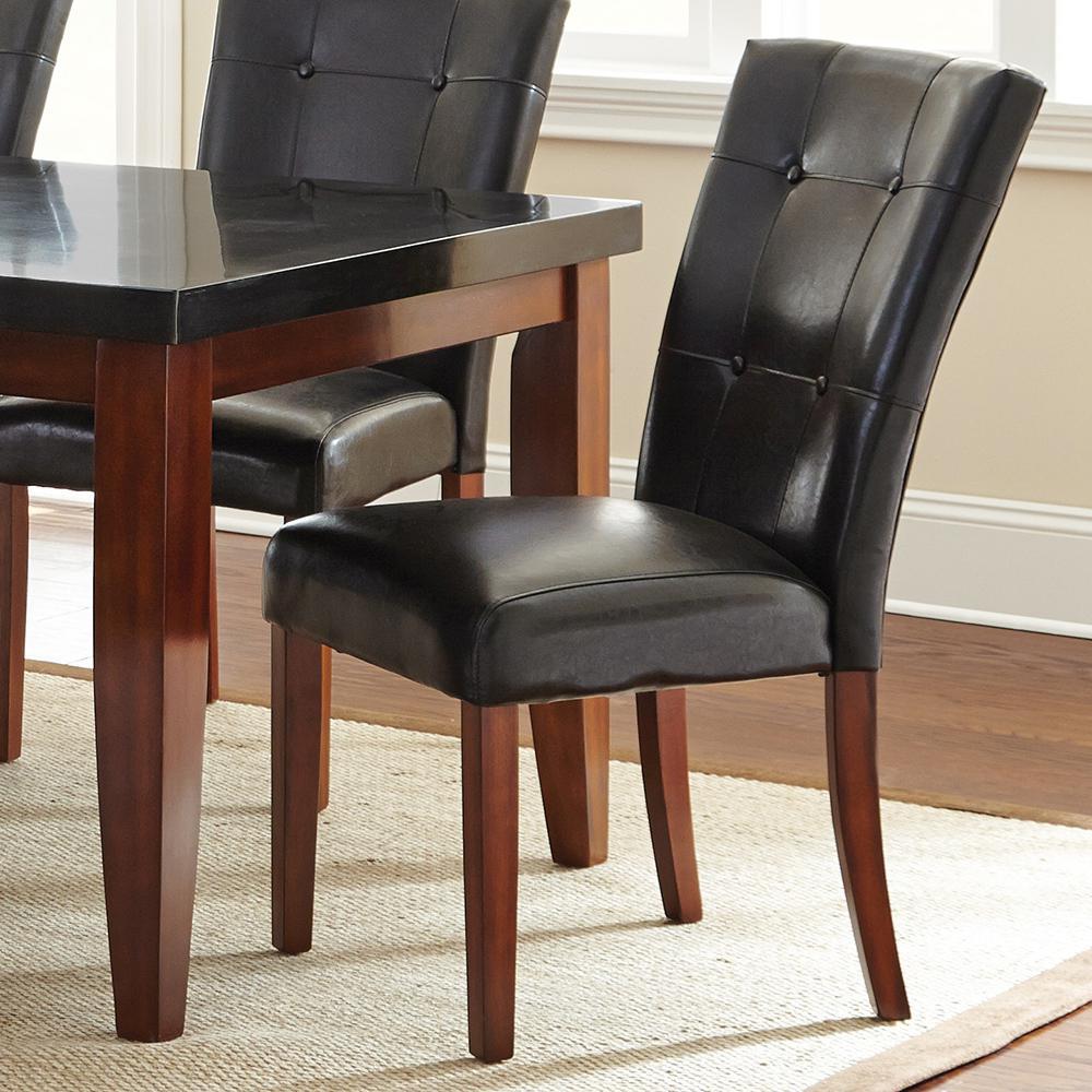 Steve Silver Company Granite Bello Black Parsons Chair (Set of 2)