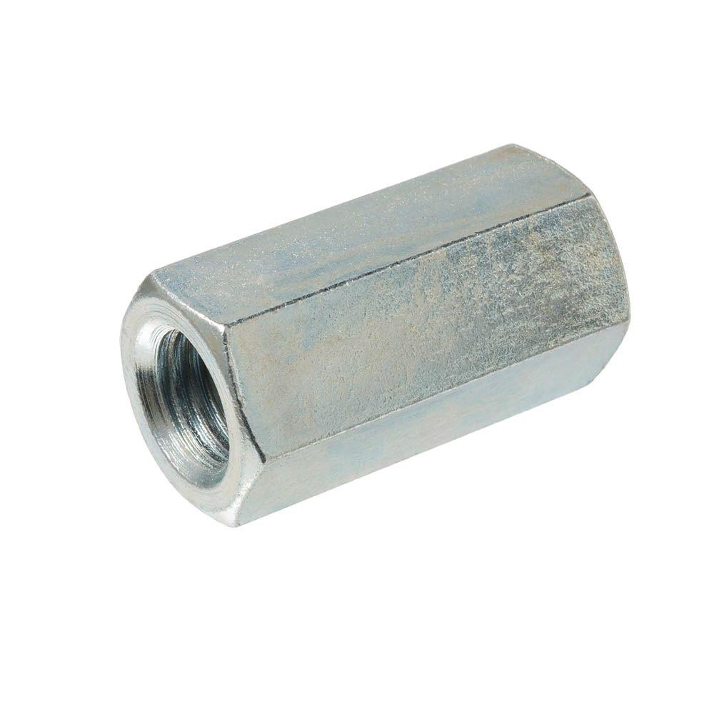 7/16 in.-14 x 1-3/4 in. Zinc-Plated Rod Coupling Nut (25-Pieces)
