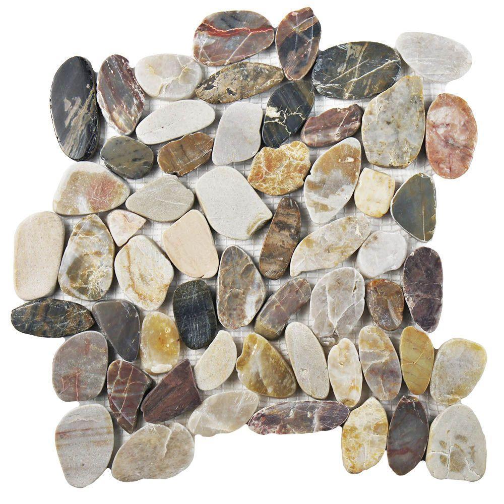 Merola Tile Riverstone Polished Flat Multi 11 3 4 In X
