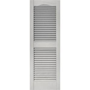 High Quality Louvered Vinyl Exterior Shutters Pair In #030 Paintable