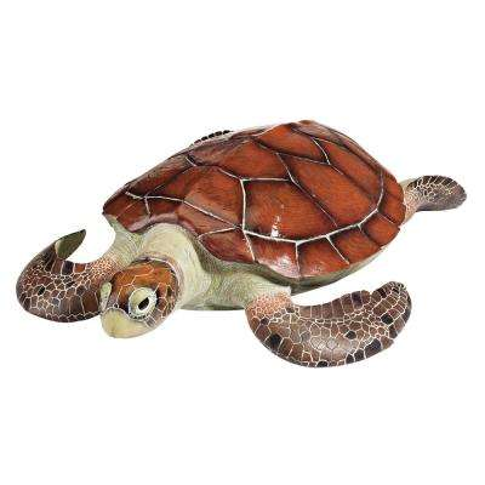 6 in. H Flat Back Sea Turtle Statue