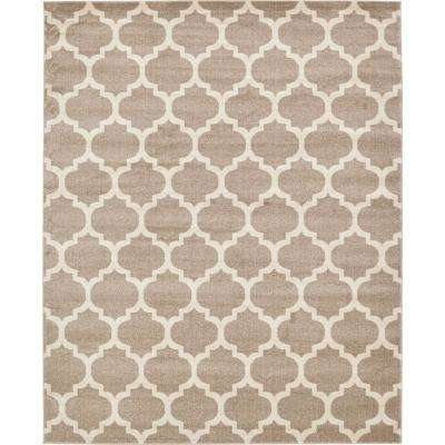 Trellis Philadelphia Light Brown/Beige 8' 0 x 10' 0 Area Rug