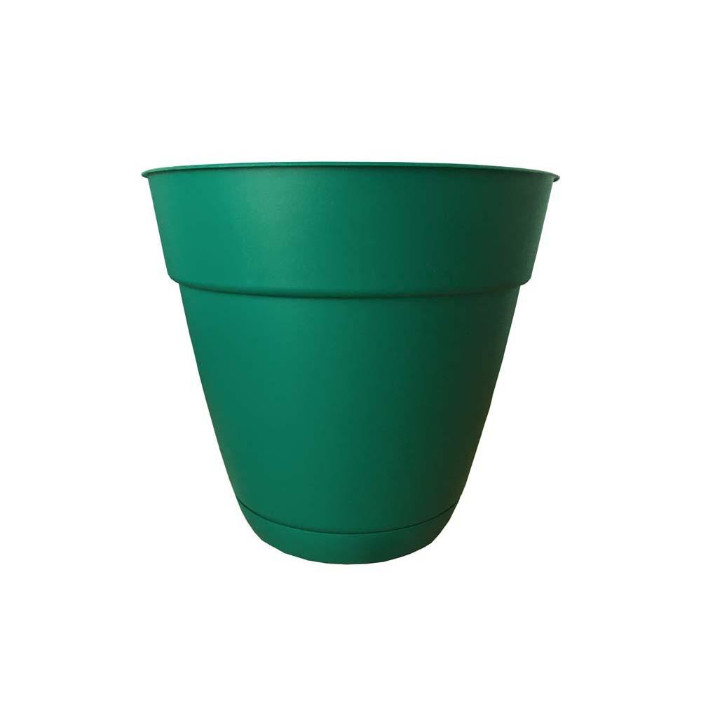 Dynamic Design Newbury 8 in. x 8 in. Cadmium Green Plastic Poly Planter