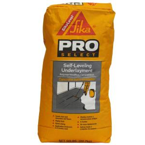 Sika 50 lb  Self-Leveling Underlayment Concrete Mix-517004 - The Home Depot