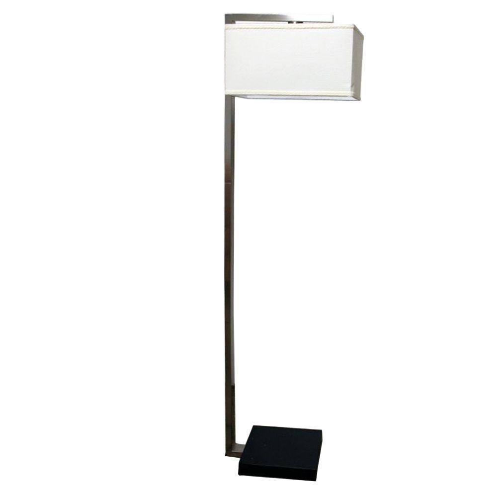 Modern Metal Floor Lamp: ORE International 62 In. Floating Shade Modern Metal Floor