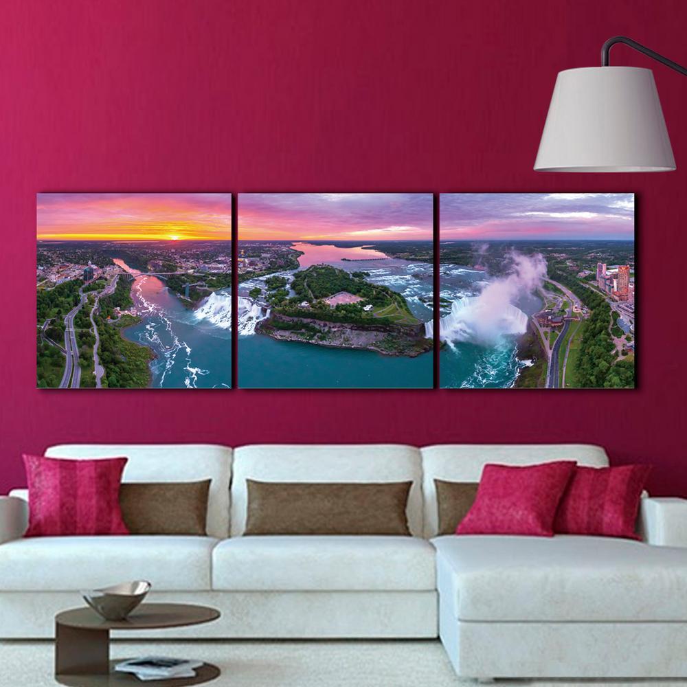 """24 in. x 72 in. """"Niagara Falls"""" Printed Wall Art"""