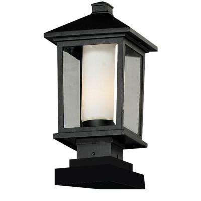 Lawrence 1-Light Black Incandescent Outdoor Post Light