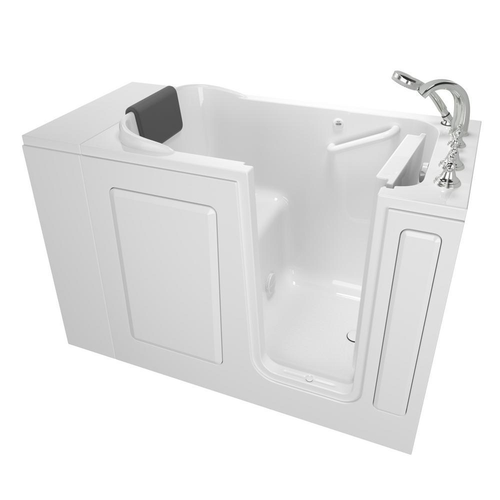 4 Ft Tub Part - 19: American Standard Gelcoat Premium Series 4 Ft. Walk-In Soaking Tub In White