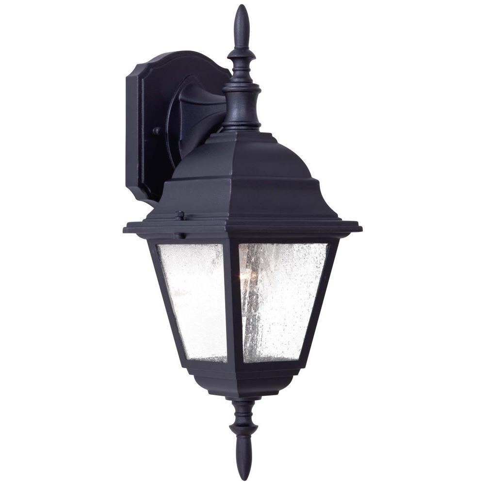Bay Hill Wall-Mount 1-Light Black Outdoor Lantern