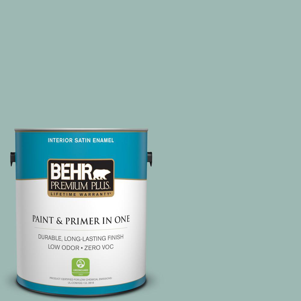 1 gal. #PPU12-08 Opal Silk Zero VOC Satin Enamel Interior Paint