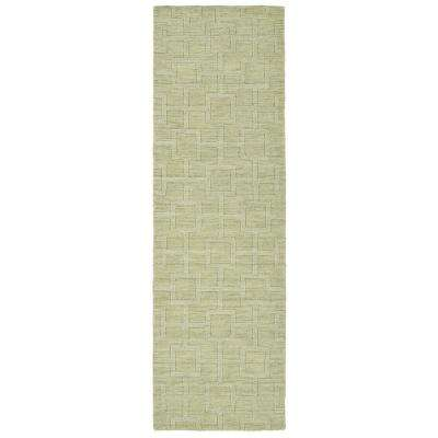 Imprints Modern Celery 3 ft. x 8 ft. Runner Rug
