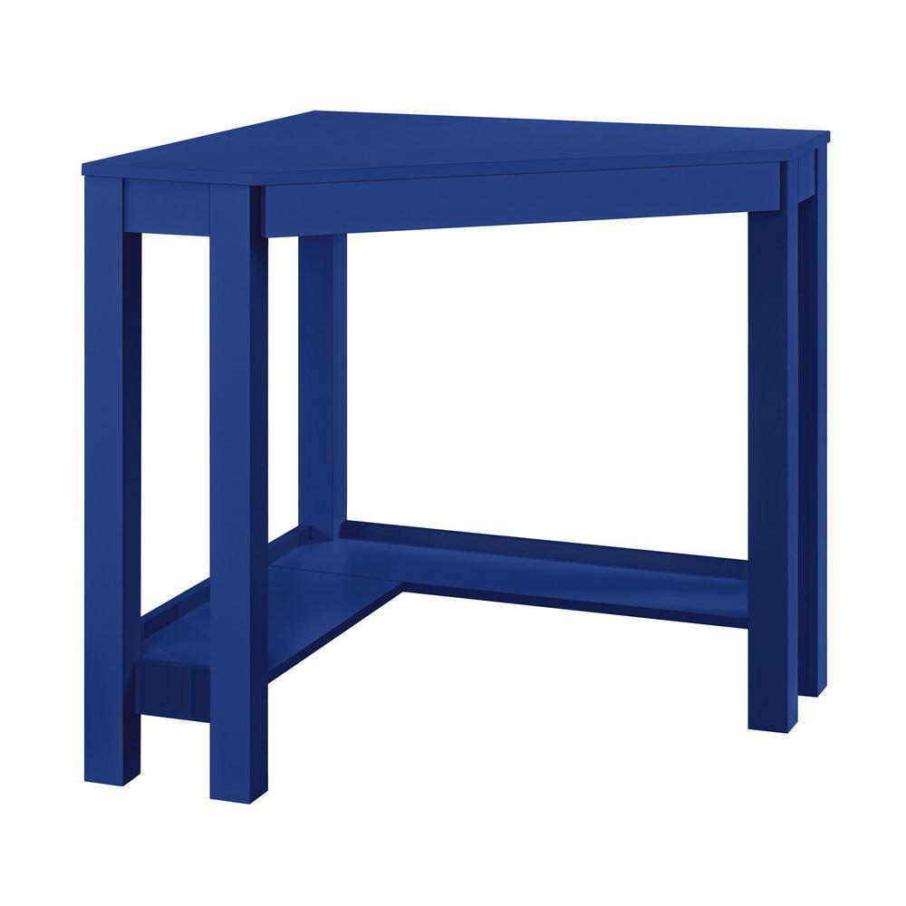 Nelson Blue Corner Desk