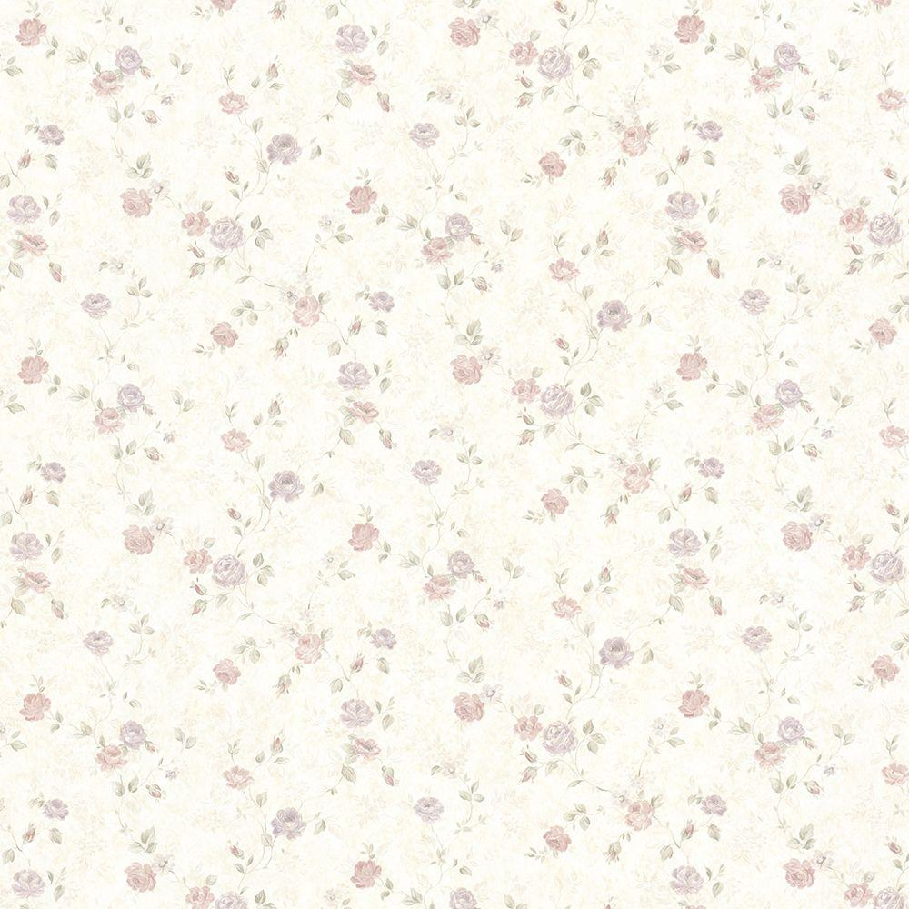 Mirage Alex Pastel Delicate Satin Floral Trail Wallpaper 992-68347 - The Home Depot