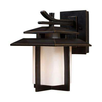 Kanso 1-Light LED Hazelnut Bronze Outdoor Wall Mount Sconce