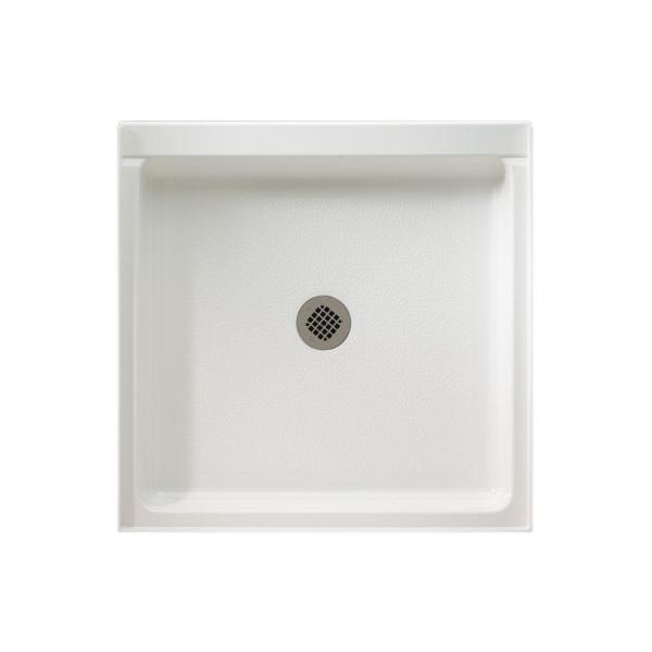 Veritek 32 in. x 32 in. Single Threshold Shower Pan in White