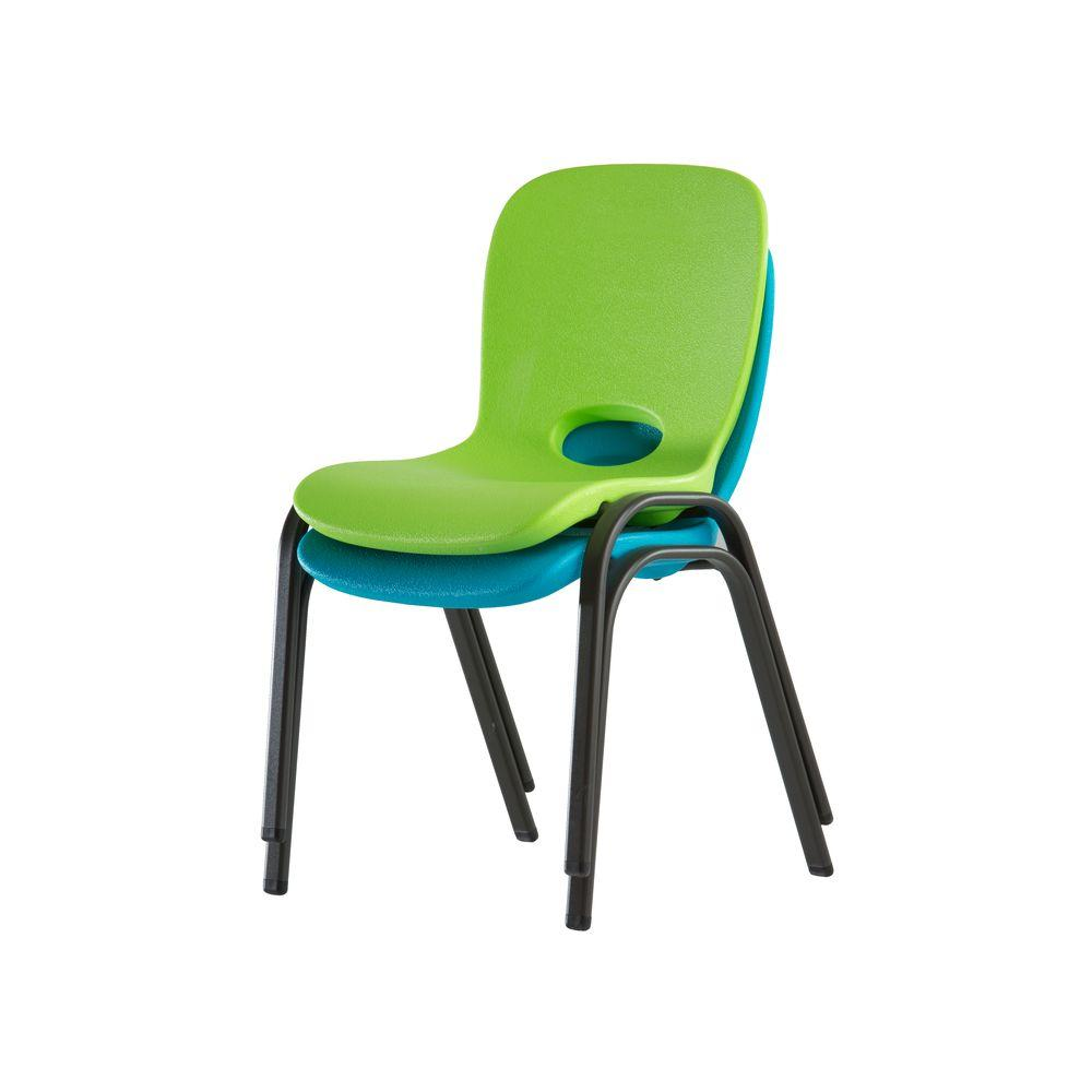 Lime Green Stacking Kids Chair (Set of 4)
