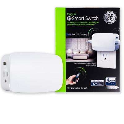 Z-Wave Plus Plug-In 2-Outlet Smart Light Switch