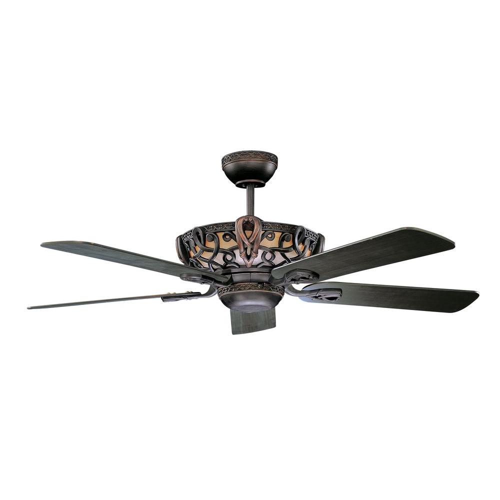 Lighting Fans: Concord Fans Luminance Aracruz 52 In. Indoor Oil-Rubbed