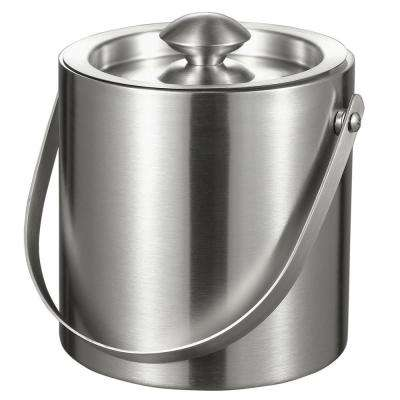 Francois 3 qt. Stainless Steel Double Wall Ice Bucket