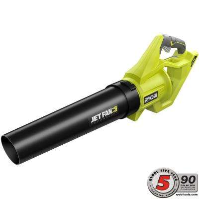 110 MPH 500 CFM Variable-Speed 40-Volt Lithium-Ion Cordless Jet Fan Leaf Blower - Battery and Charger Not Included