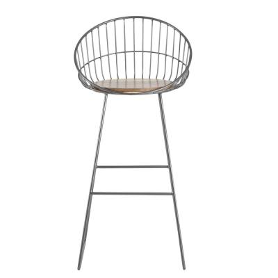 Astrid 41 in. Grey & Natural Wood Bar Stool