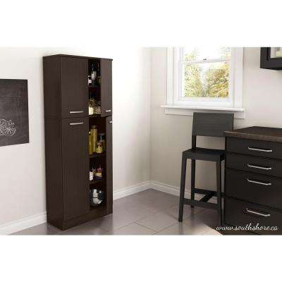 Axess 4-Door Chocolate Food Pantry