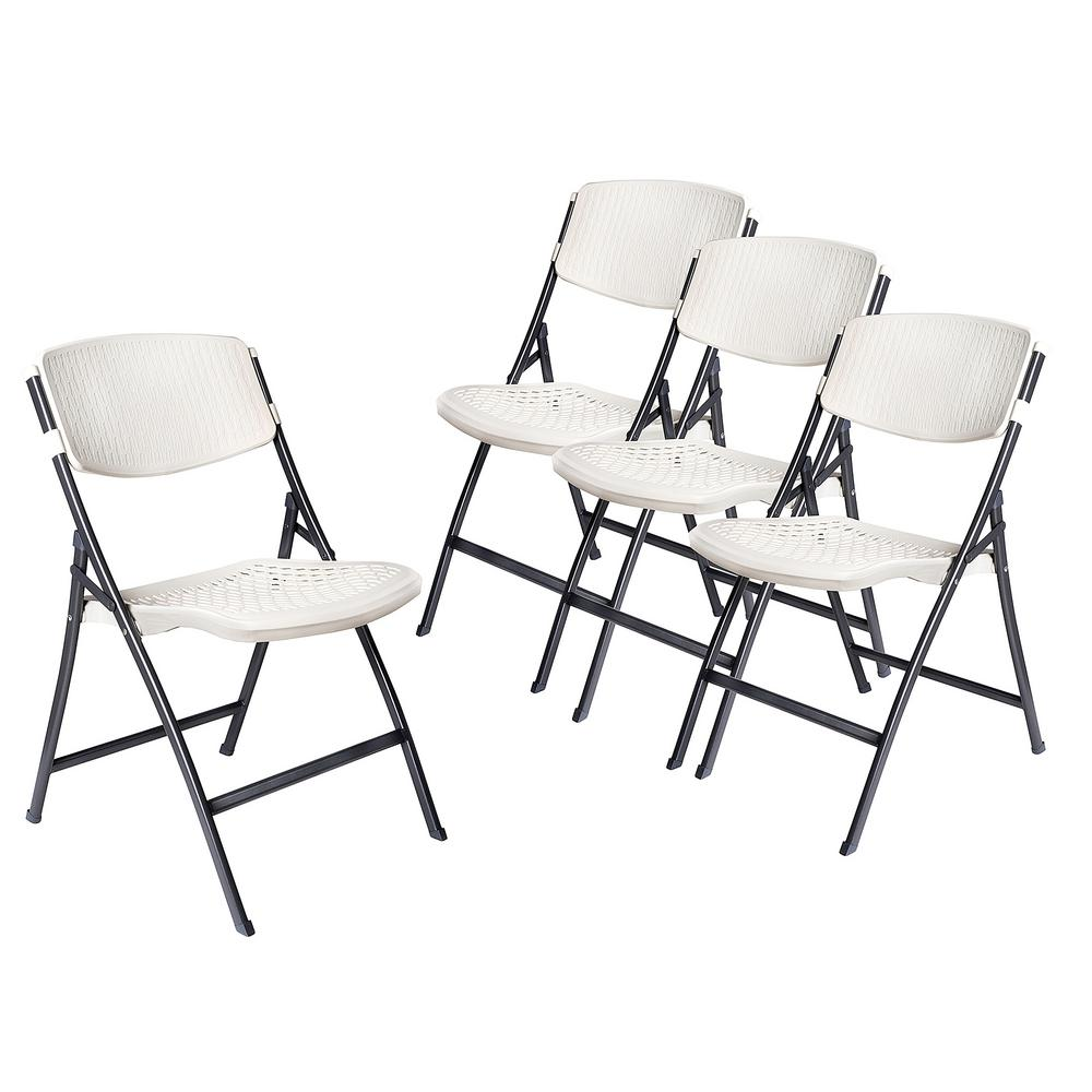 Chairs At Home Depot: HDX White Folding Chair (Set Of 4)-CHR-036W